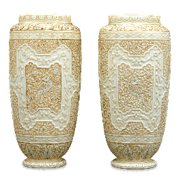 Vase vector antique. Ivory cameo glass vases