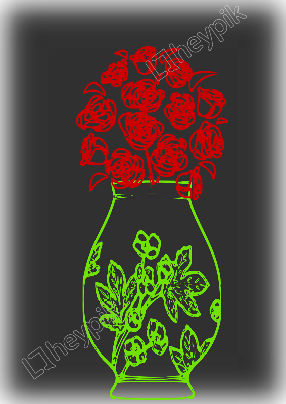 Vase vector red. A glowing free svg