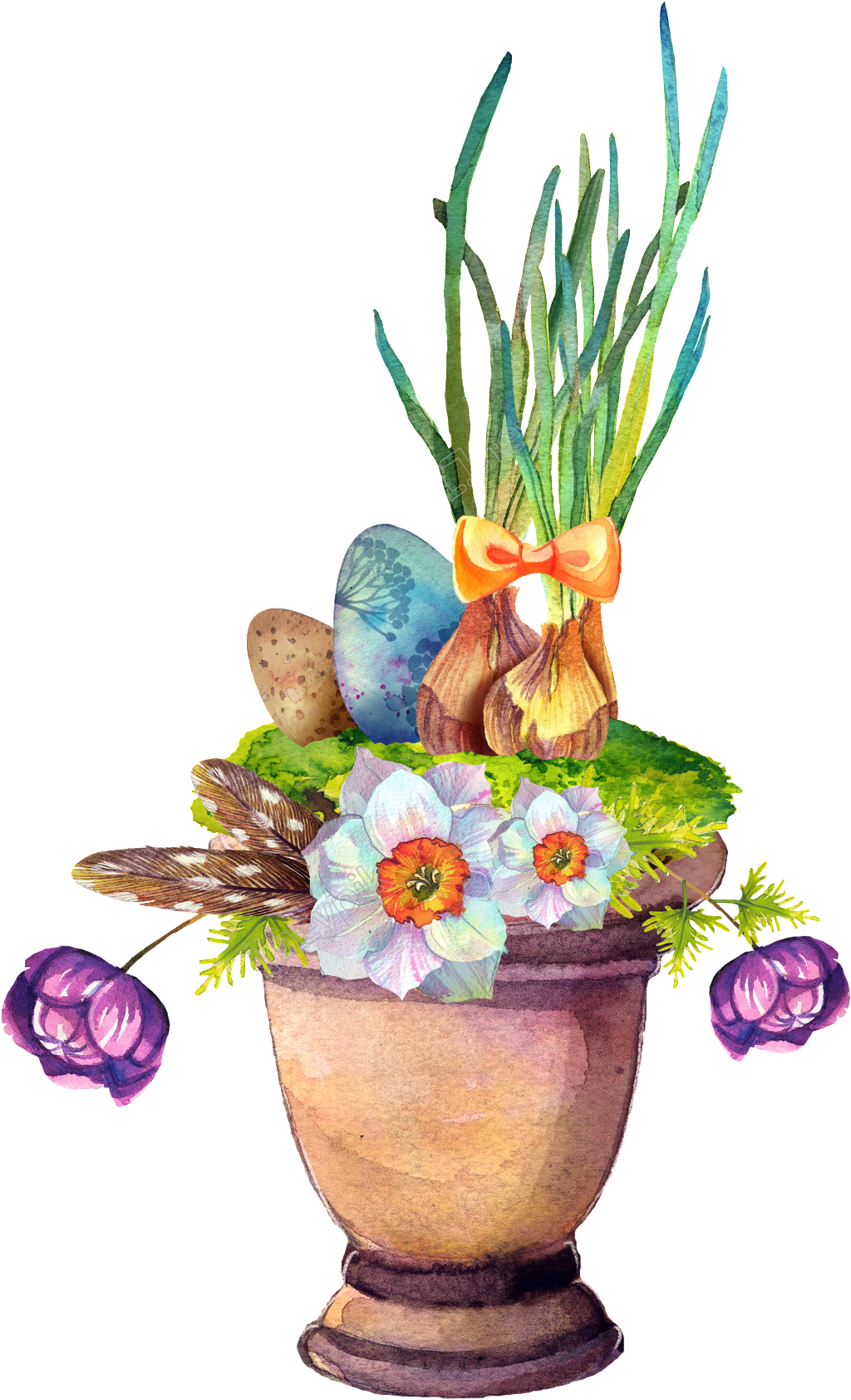 Colorful transparent decorative free. Vase vector plant decoration jpg royalty free download