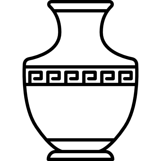 Vase vector greek. Free art icons icon