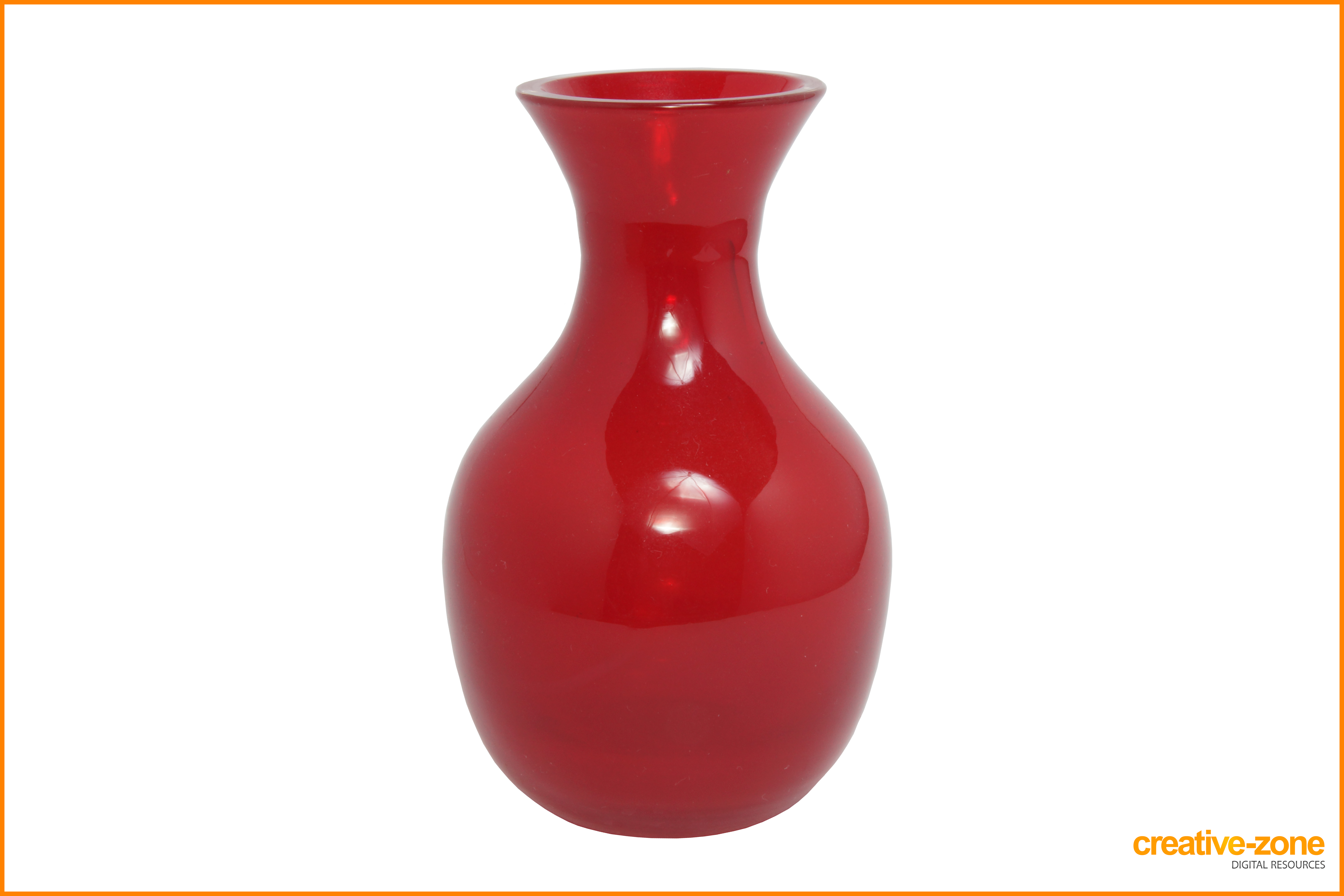 Vase vector red. Glassware archive creative zone