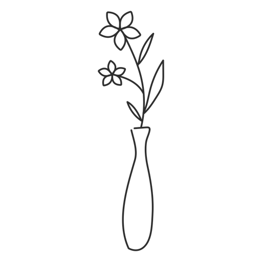 Flower doodle sketch transparent. Vase vector plant decoration clipart library library