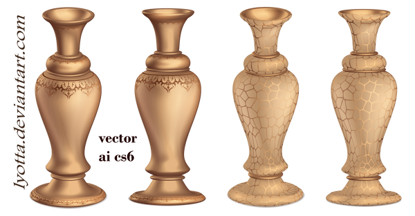 Vase vector antique. Bronze d by lyotta