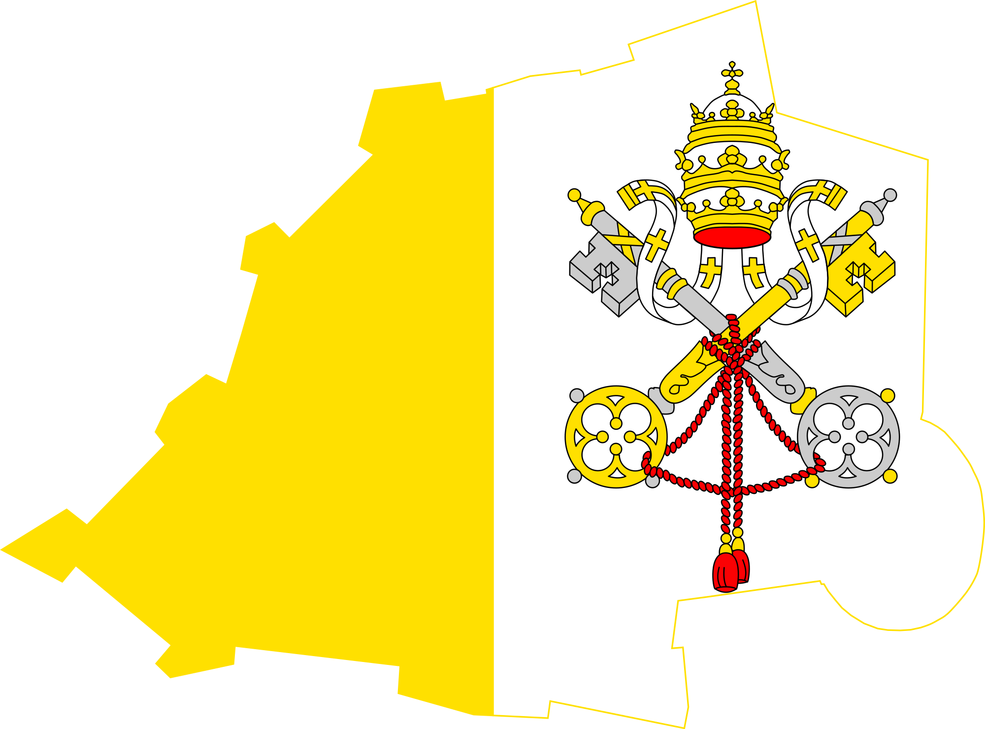 File flag map of. Vatican City vector freeuse stock