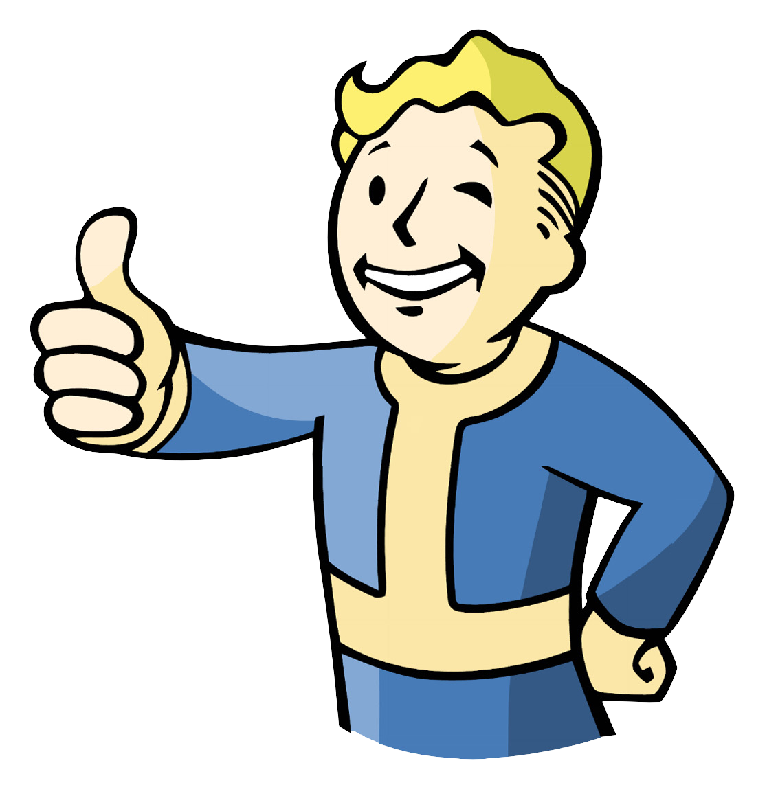 Drawing guys back boy's head. Image vault boy png