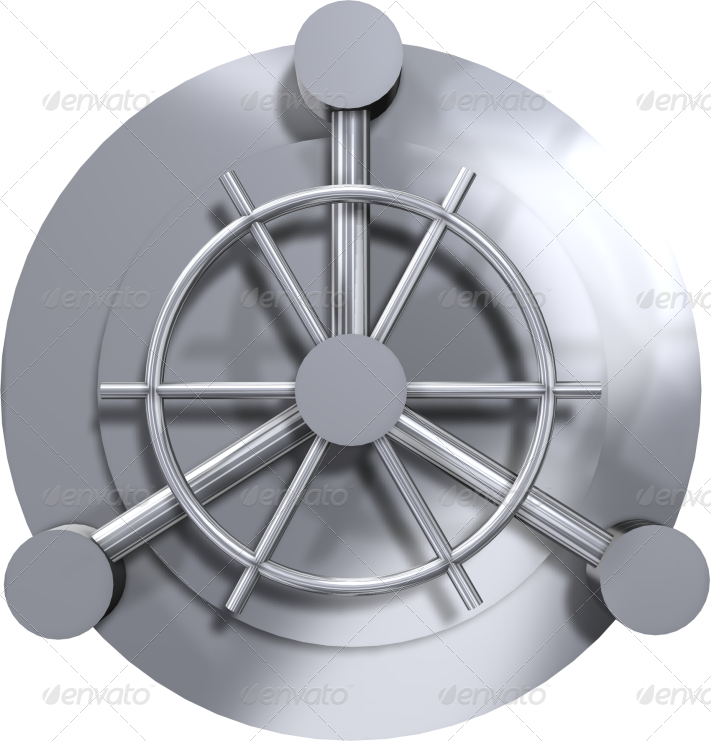 Vault door png. Isolated d shiny by