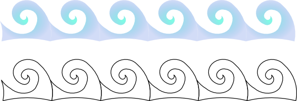Wave clip ahoy matey. Waves vector free in