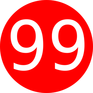 Vector 8. Red rounded with number