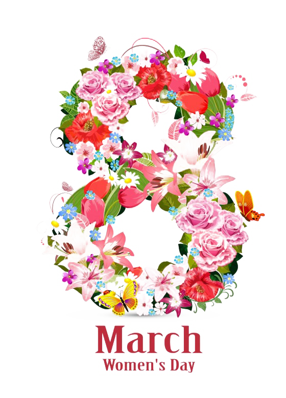 Vector 8 march. Png background clipart