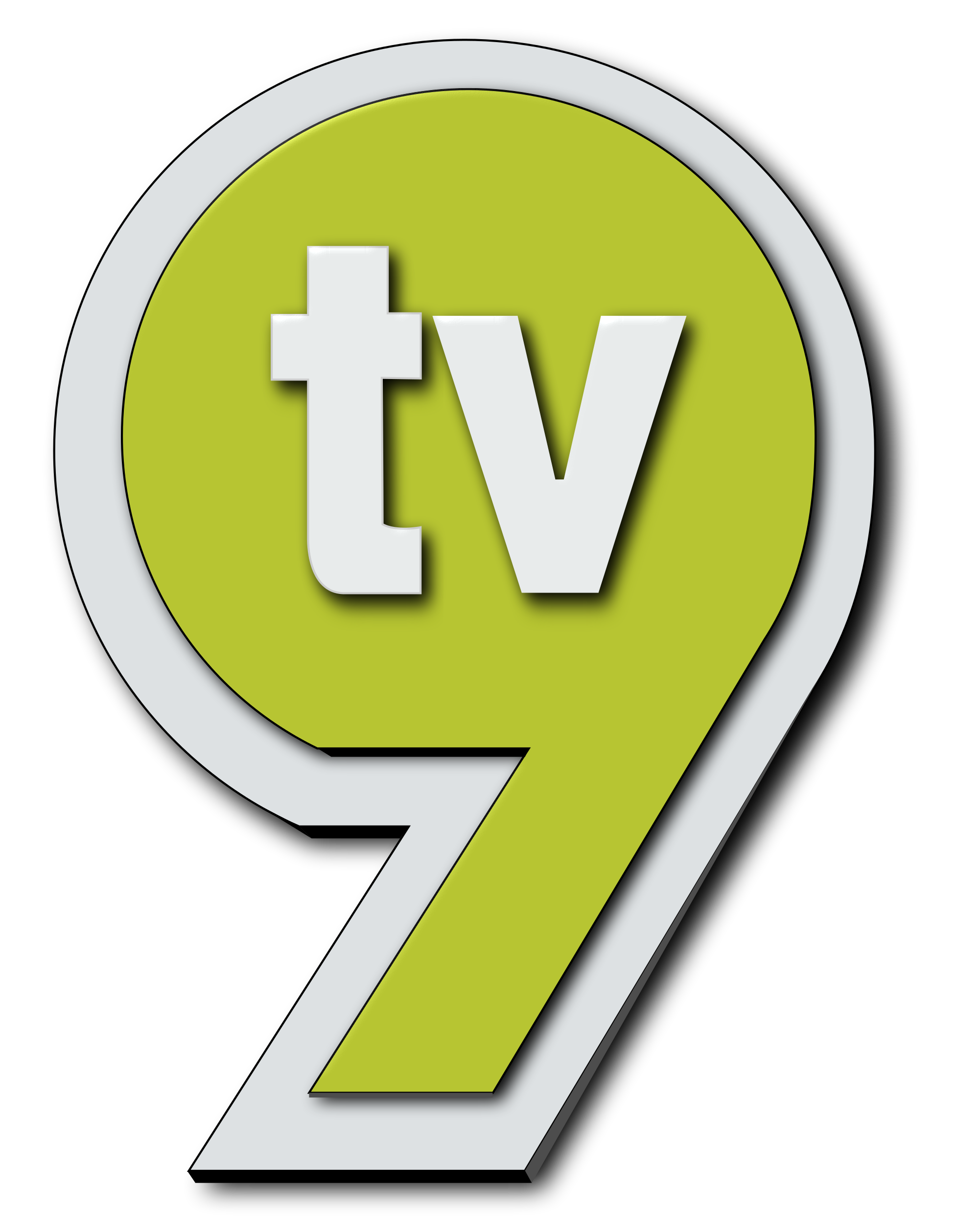 Vector 9 png. File new logo tv