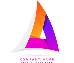 Vector abstracts colorful. Abstract triangular logo eps
