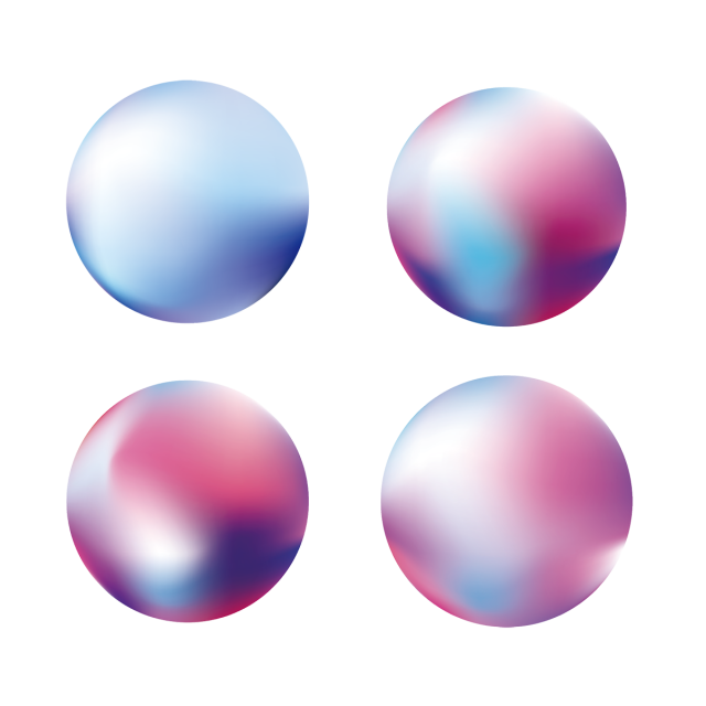 Vector abstracts creative. Gradient ball illustration design