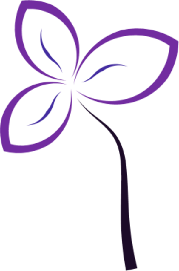 Vector abstracts simple. Flower abstract clip art