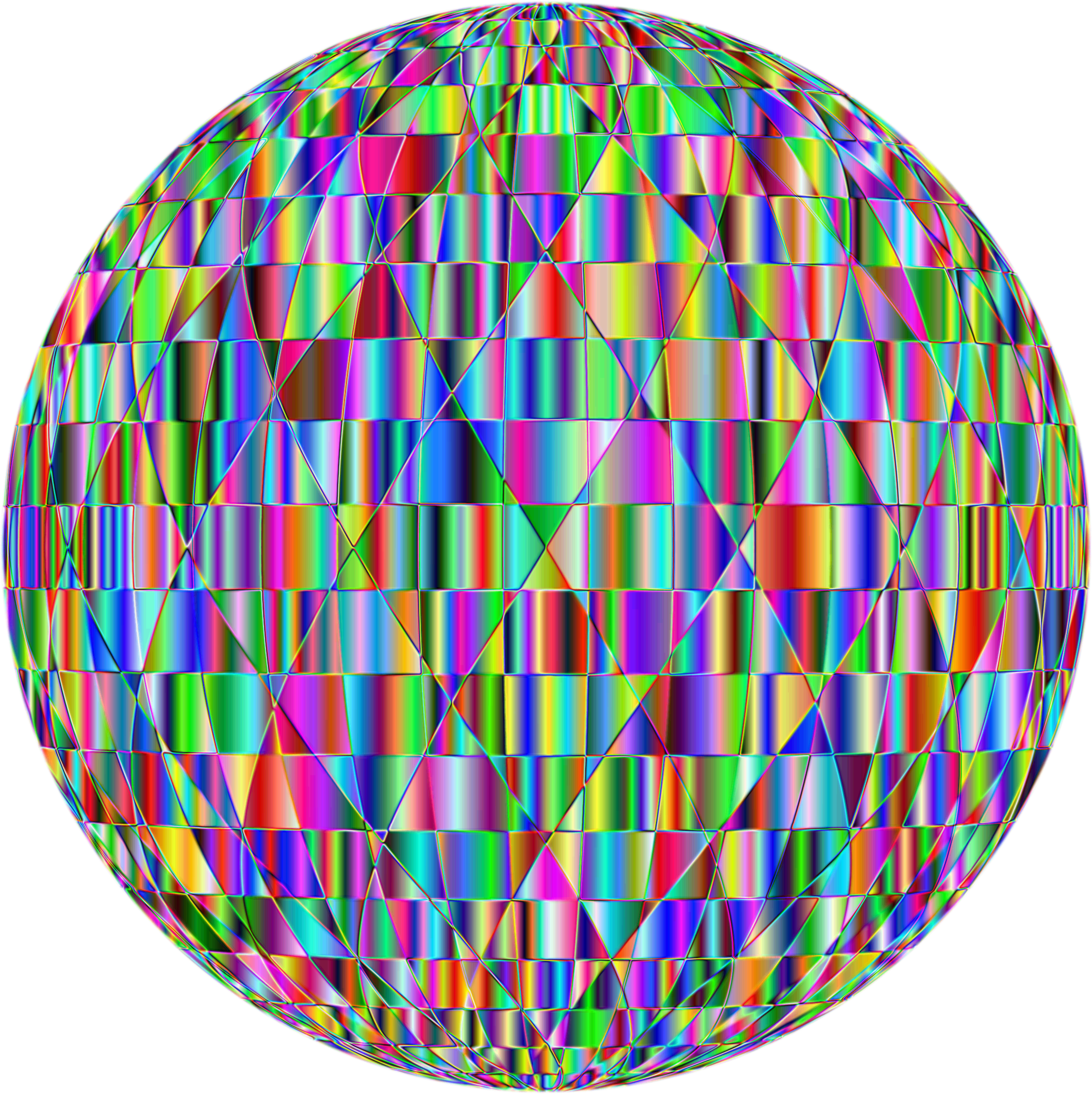 Vector abstracts sphere. Prismatic abstract geometric enhanced