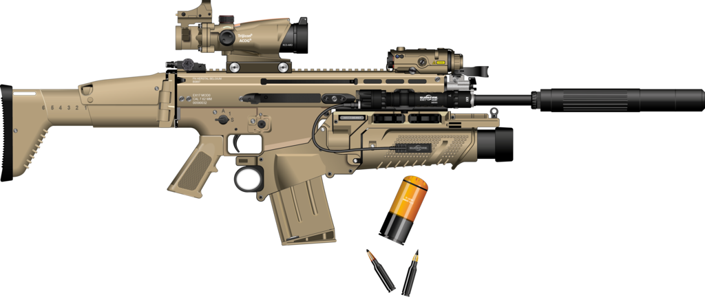 Transparent rifle scar h. With silencer by darth