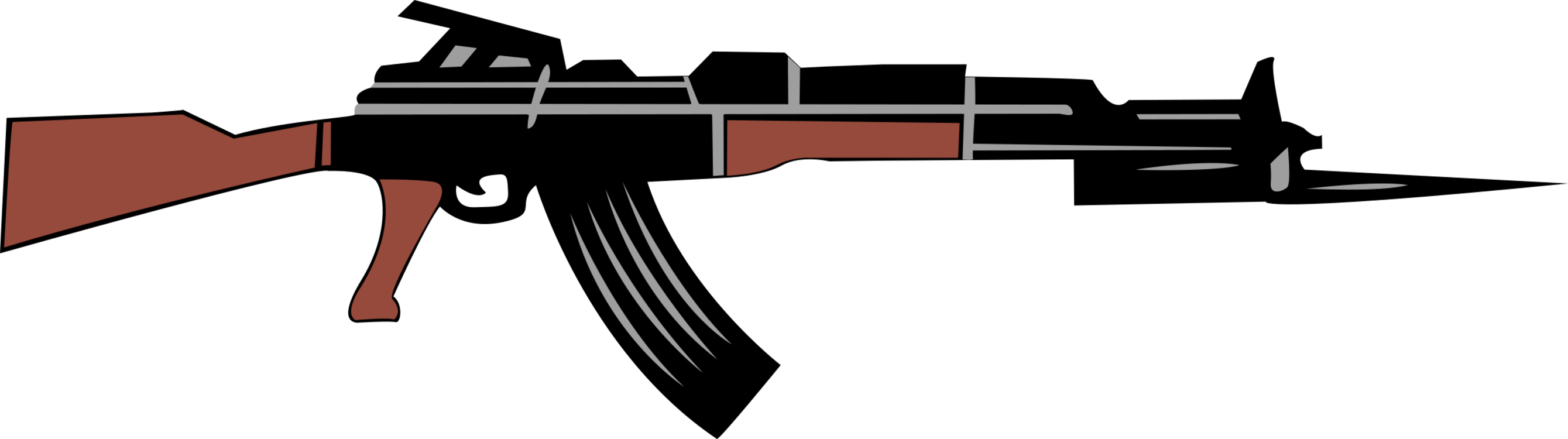 Vector ak47 ak 47. Clip rifle automatic firearm