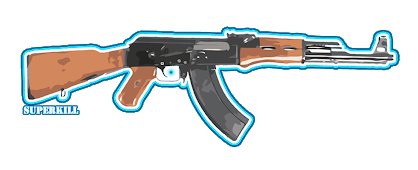 Vector ak47 animated. Graphic designs by superkill