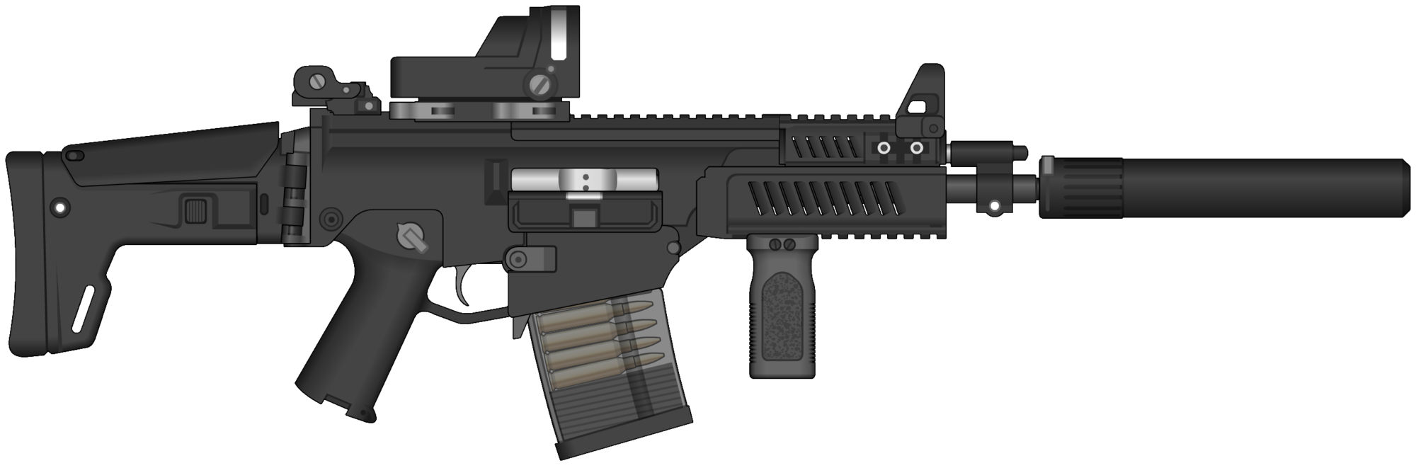 Vector submachine 50 cal. Mk assault rifle png