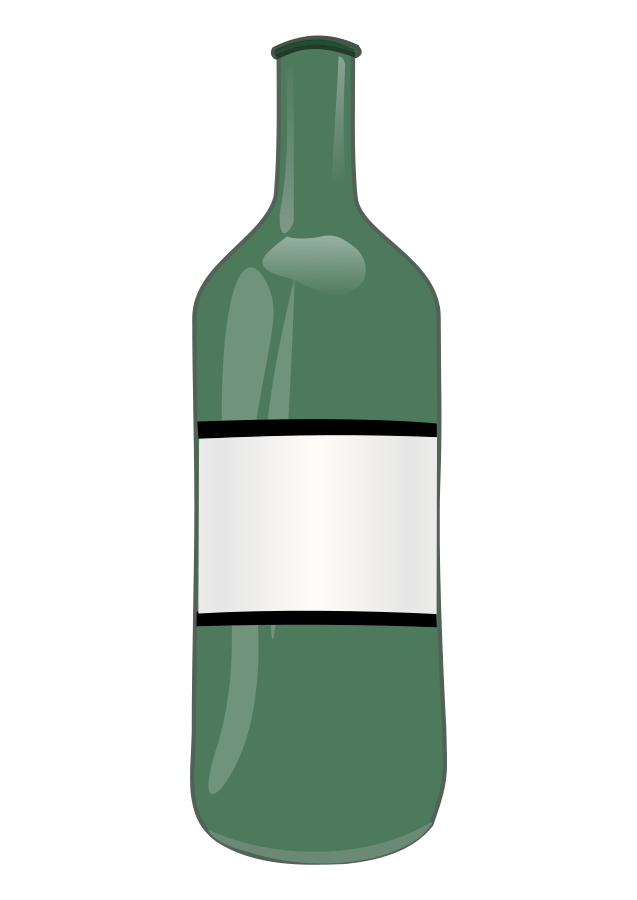 Vector alchemy bottle. Collection of free bottling