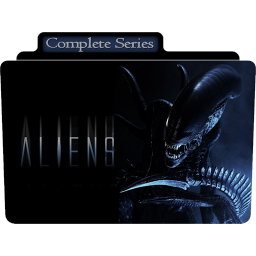 Vector alien movie. Folder icon free of