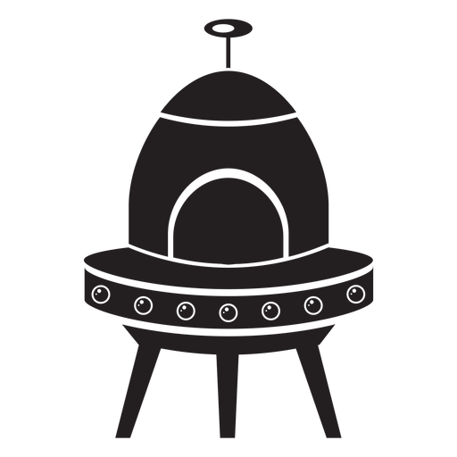 Vector ufo flying saucer. Kids flat icon transparent