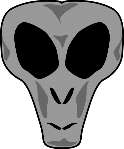 Vector alien scary skull. Free photos devil search