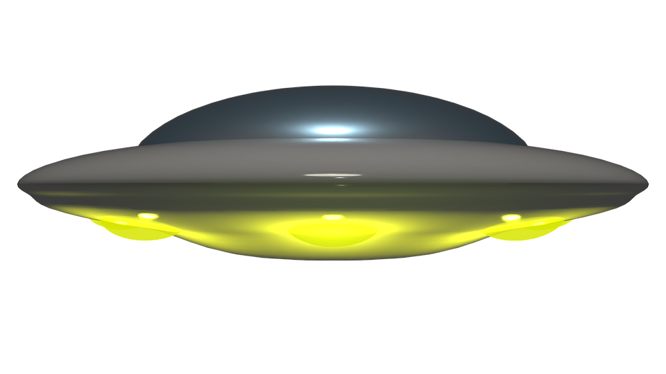 Vector ufo spaceship. Alien spacecraft png background