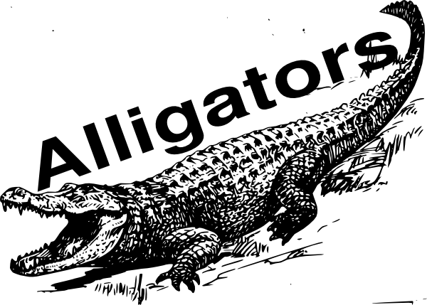 Sign clip art at. Vector alligator png black and white