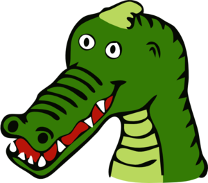 Vector alligator animated. Cartoon crocodile clip art