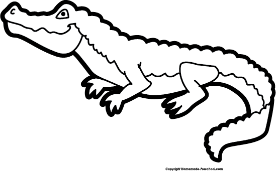 Vector alligator black and white.  clip kawaii huge jpg stock
