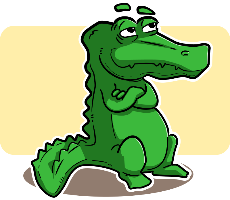 Collection of free crocoisite. Vector alligator cartoon angry vector stock