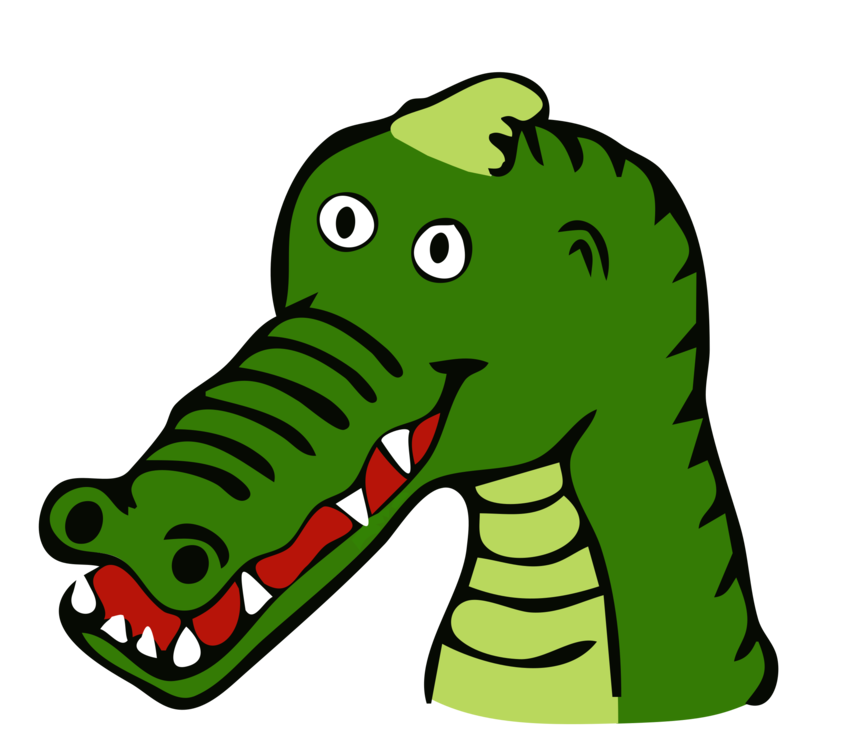 Vector alligator cartoon clip art free. Alligators nile crocodile drawing