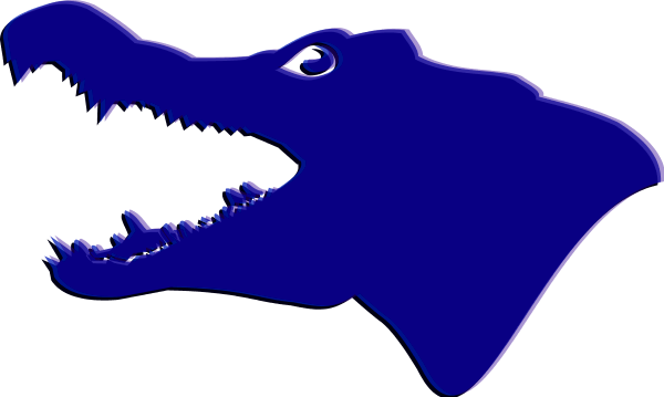 Florida gator silhouette at. Vector alligator head png royalty free download