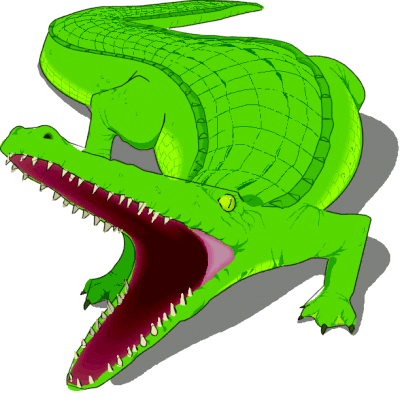 Vector alligator scary. Collection of free crocoisite graphic transparent stock