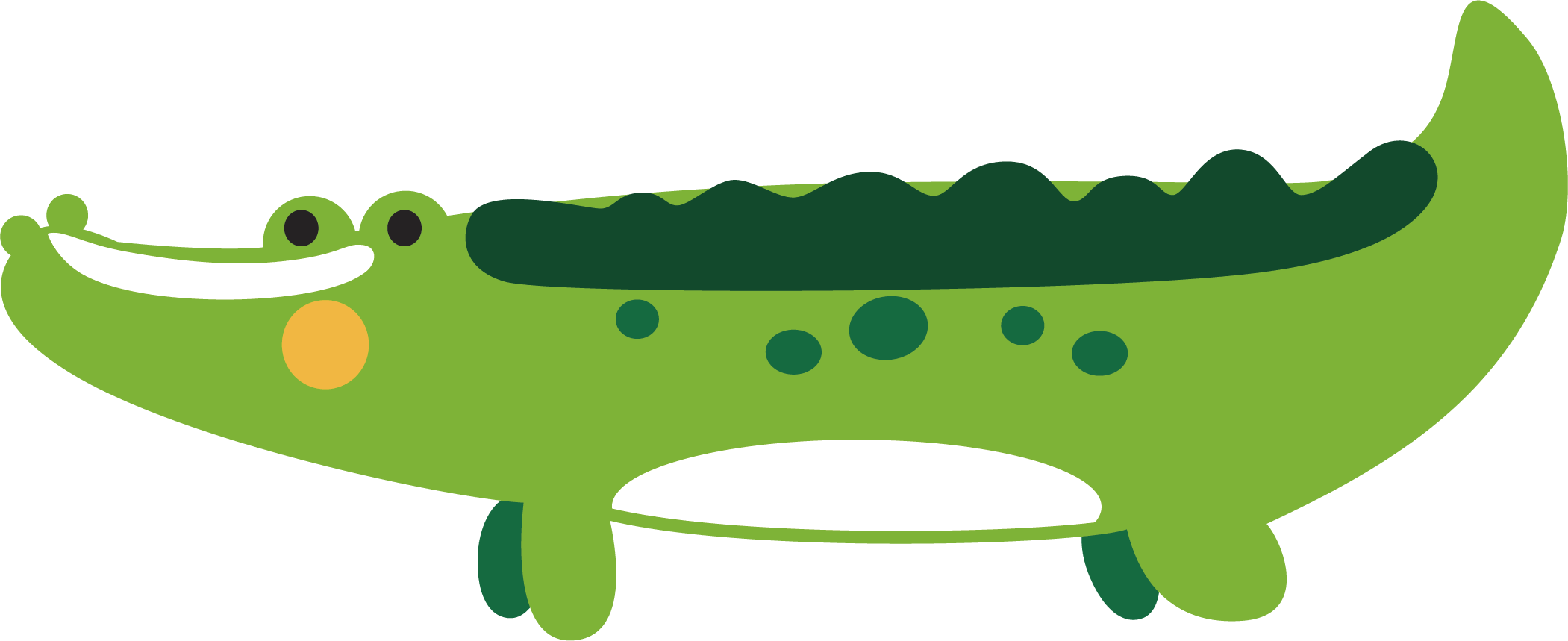 Collection of free crocoisite. Vector alligator scary royalty free
