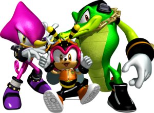 Vector alligator sonic character. Team chaotix retro from
