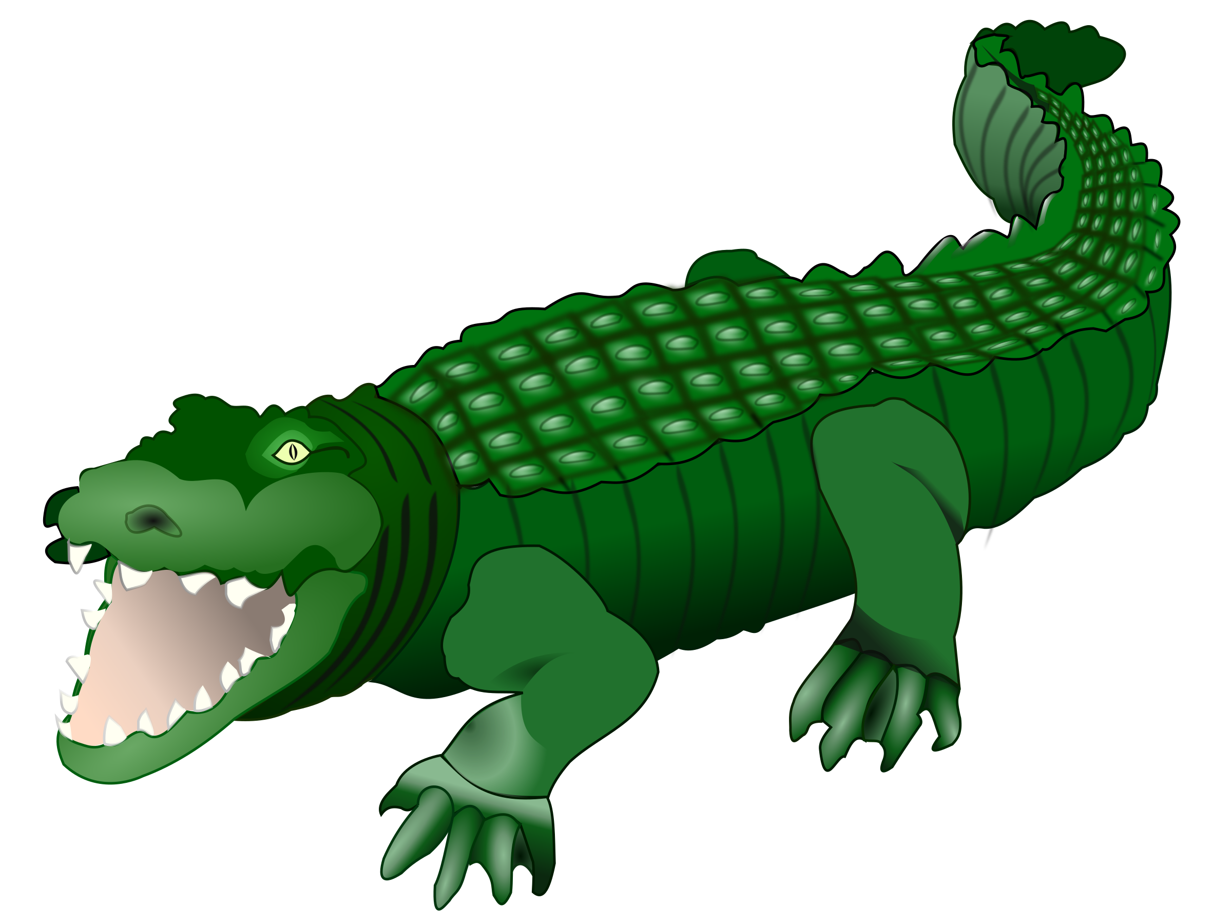 Transparent alligator colored. Collection of free crocoisite