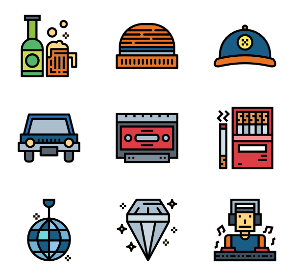 Avatar icons free hiphop. Rapper vector stock clip art transparent library