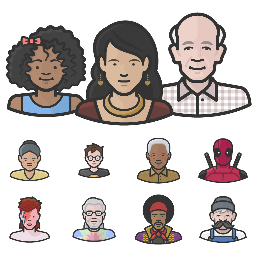 Vector avatars diversity. Download icon for commercial