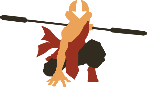 Vector avatars silhouette. Avatar aang by azza