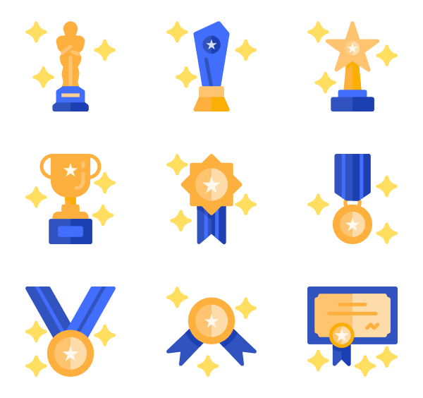 Award icons free. Vector quality clip royalty free stock
