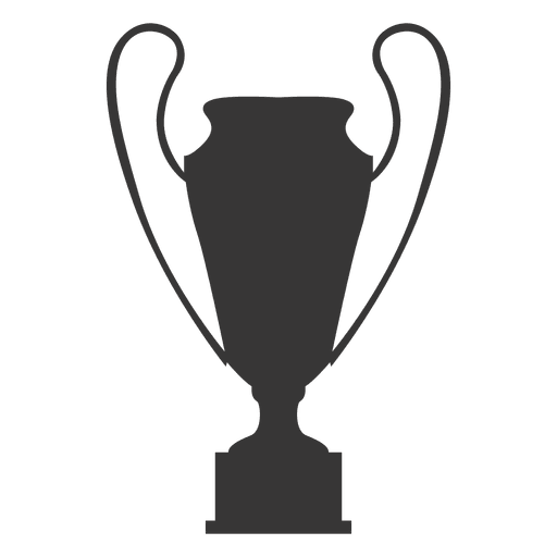 Vector award silhouette. Trophy cup transparent png