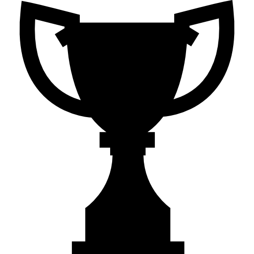 Vector award silhouette. Trophy free shapes icons