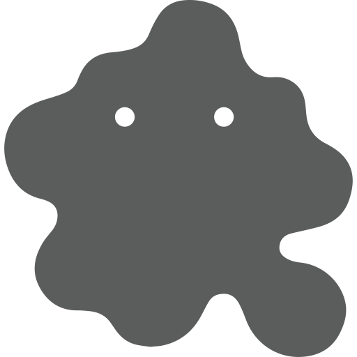 Vector bacteria amoeba. Jp icon png and clip free