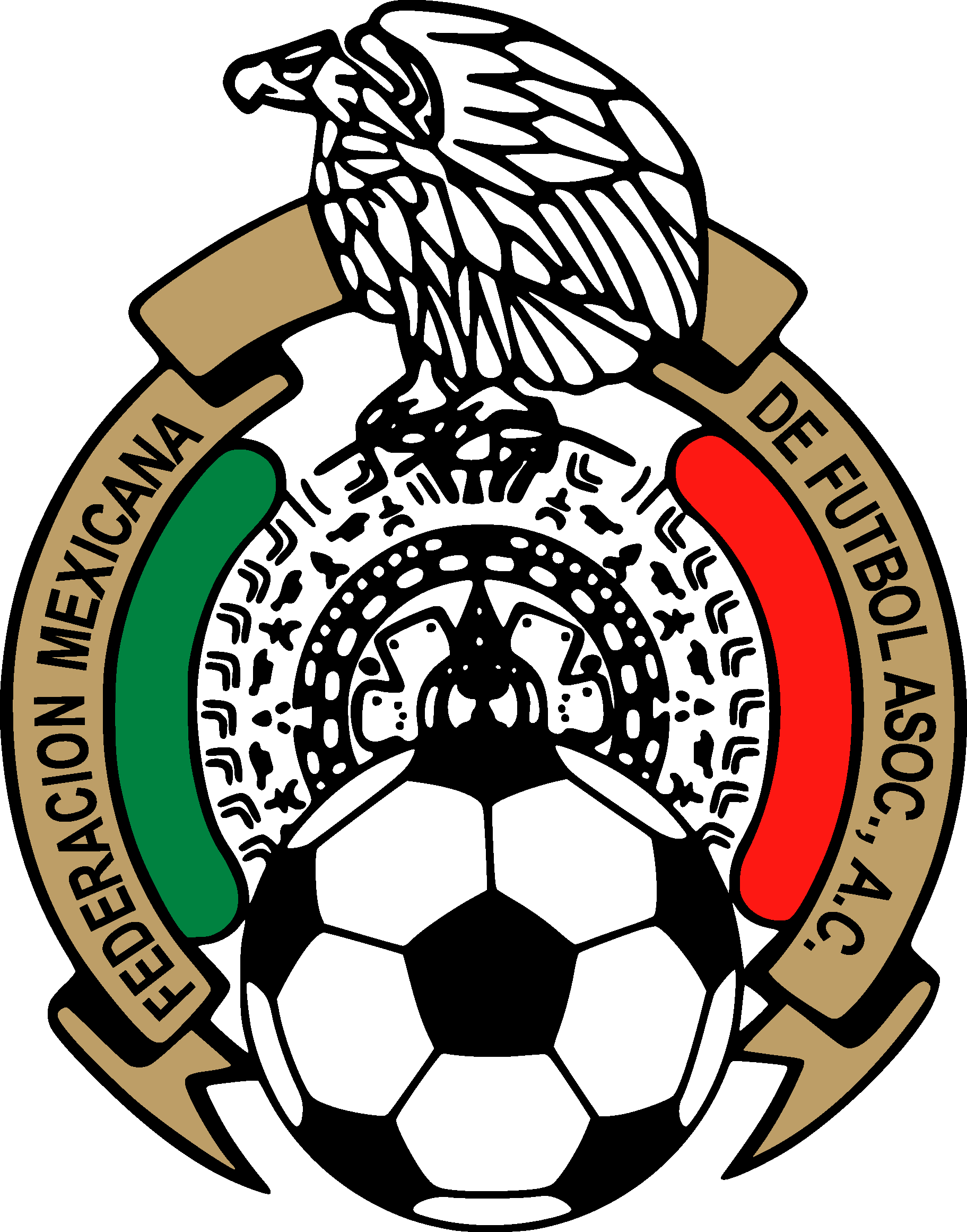 Vector badge png. Mexican football federation mexico