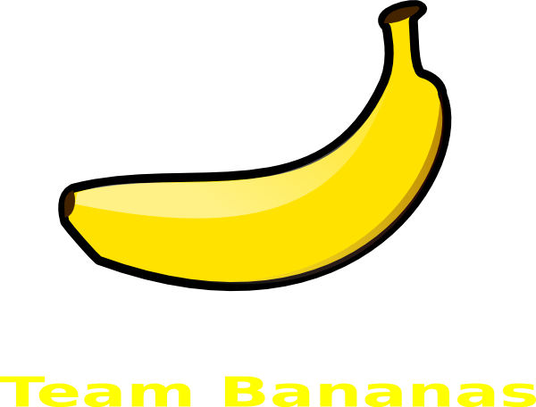 Vector banana. Team bananas logo clip