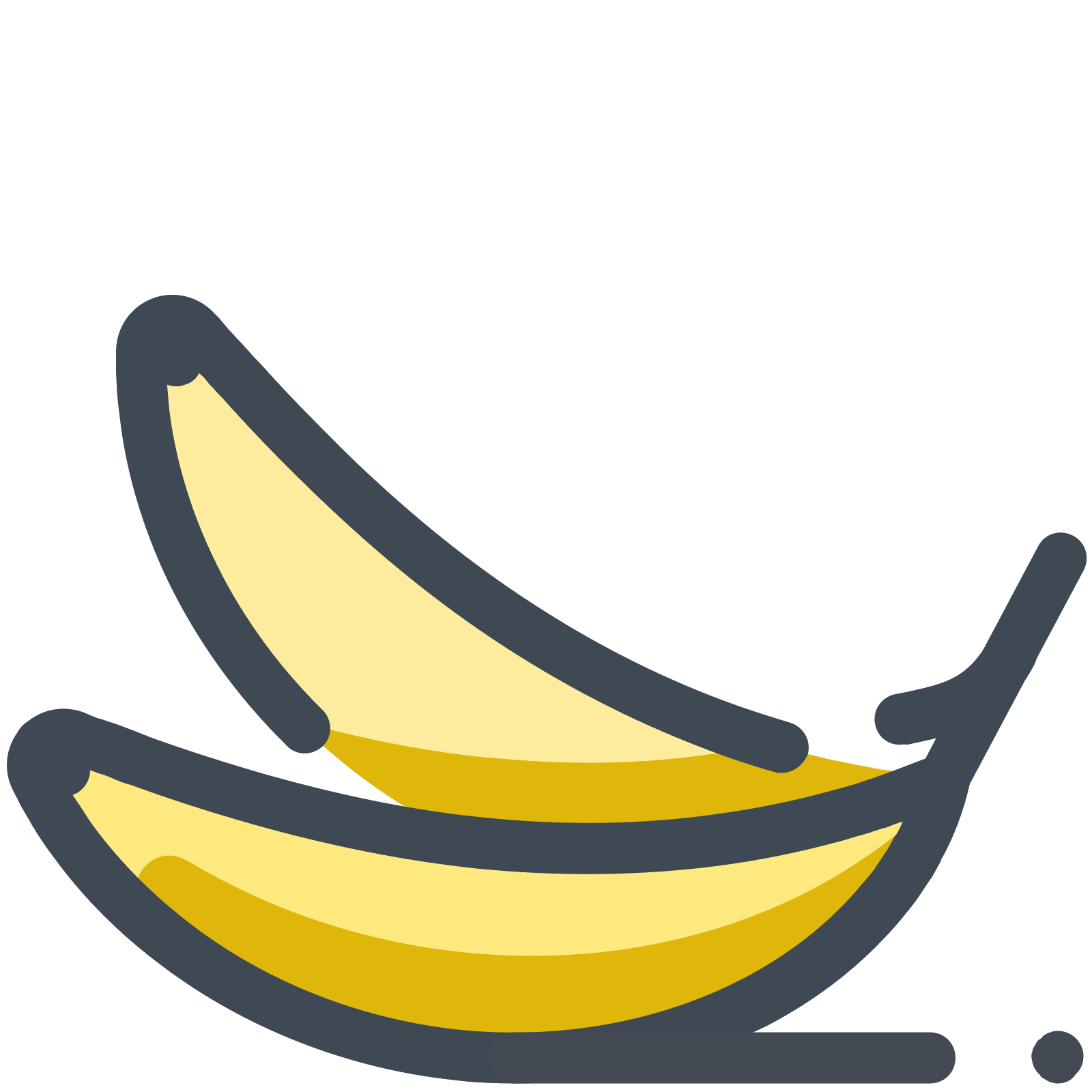 Vector banana. Sweet icon free download