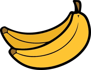 Yellow bananas clip art. Vector banana vector black and white