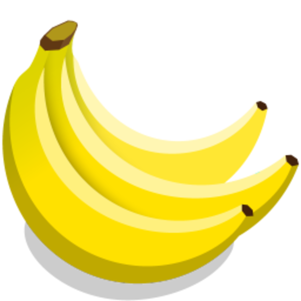 Free icon png download. Vector banana banner stock