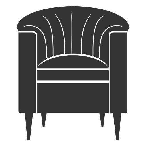 Vector barrel. Chair black icon transparent